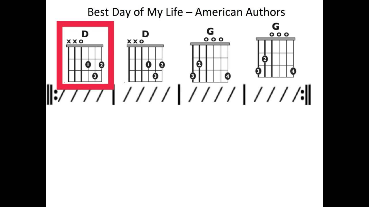 In My Life Chords Best Day Of My Life Moving Chord Chart