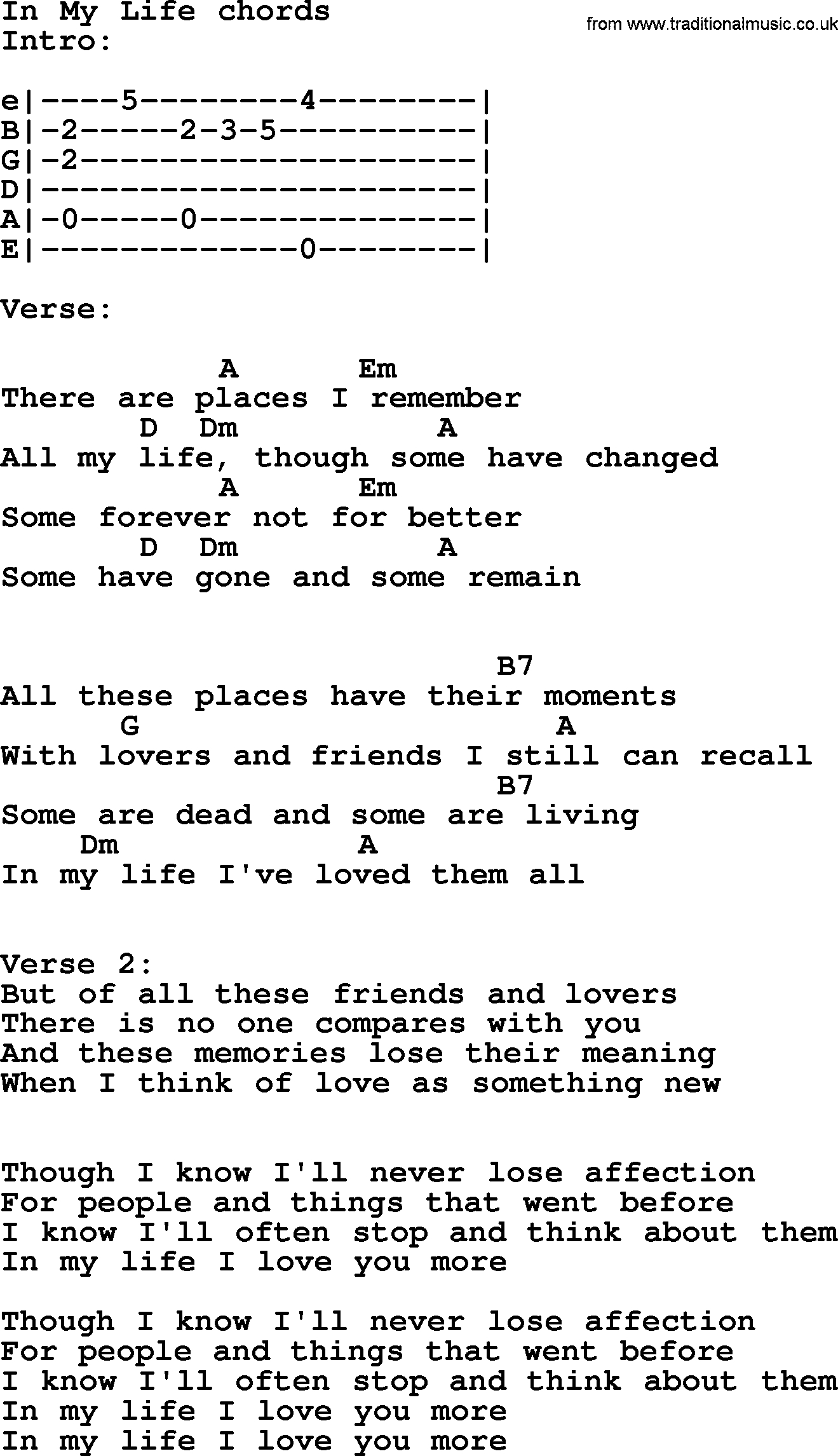 In My Life Chords Johnny Cash Song In My Life Chords Lyrics And Chords