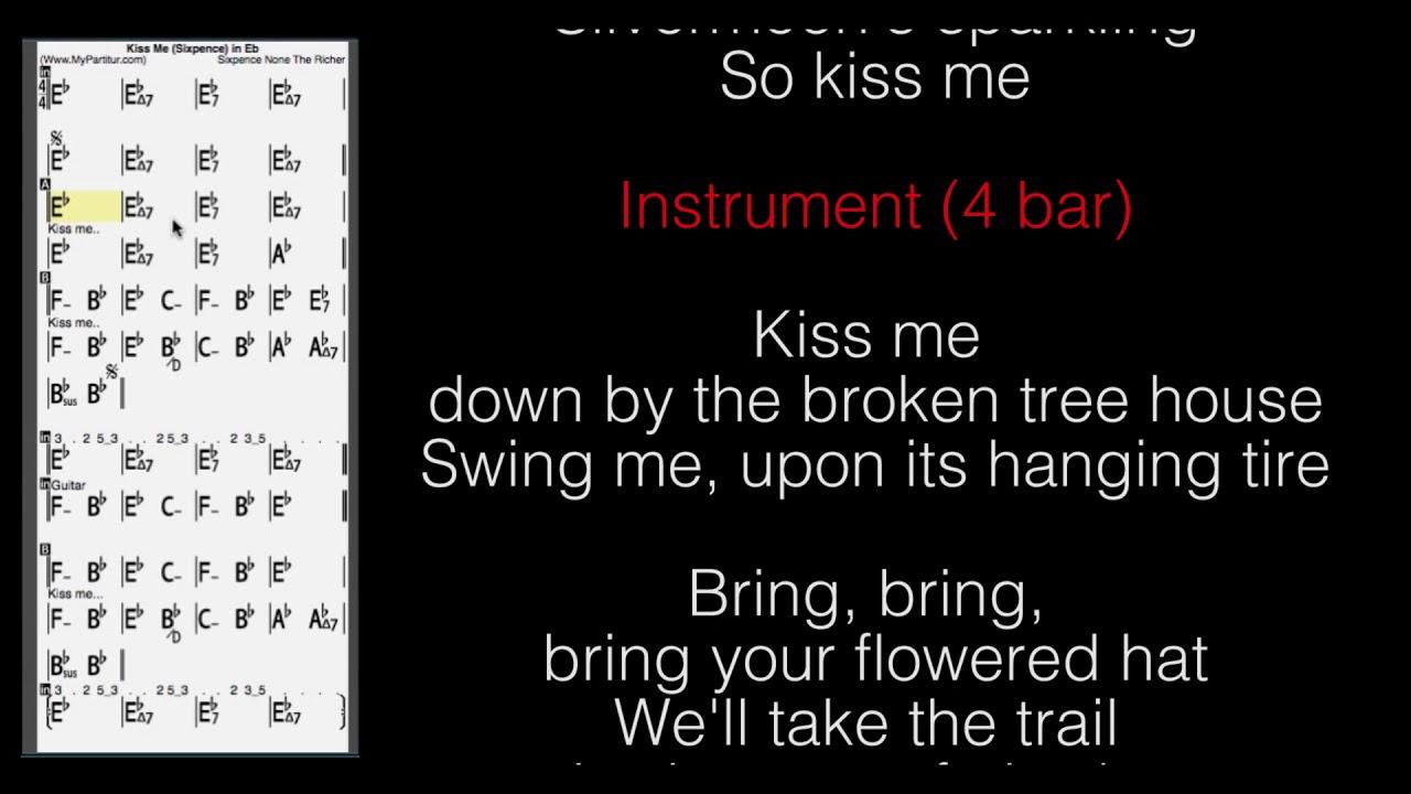 Kiss Me Chords Kiss Me Chords At Mypartitur Lyrics