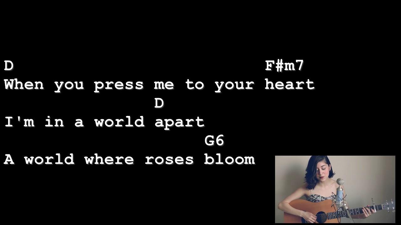 La Vie En Rose Chords La Vie En Rose Daniela Andrade Lyrics And Chords Guitar Tutorial