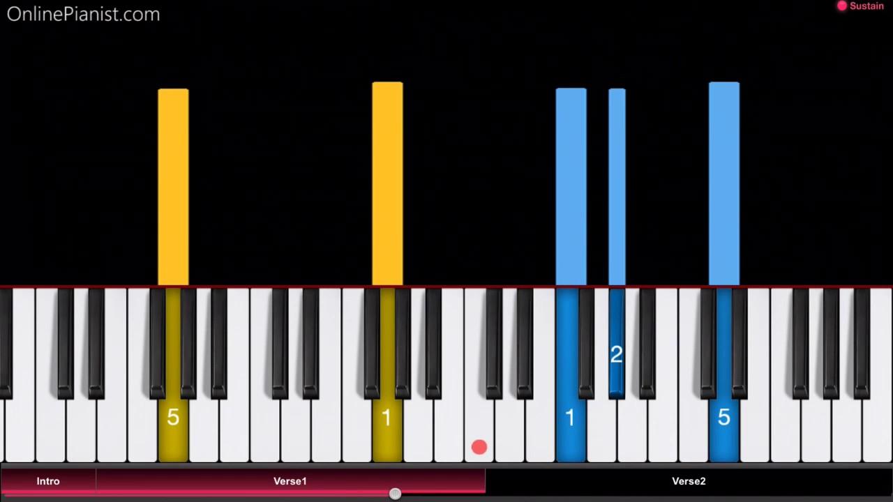 La Vie En Rose Chords La Vie En Rose Easy Piano Tutorial