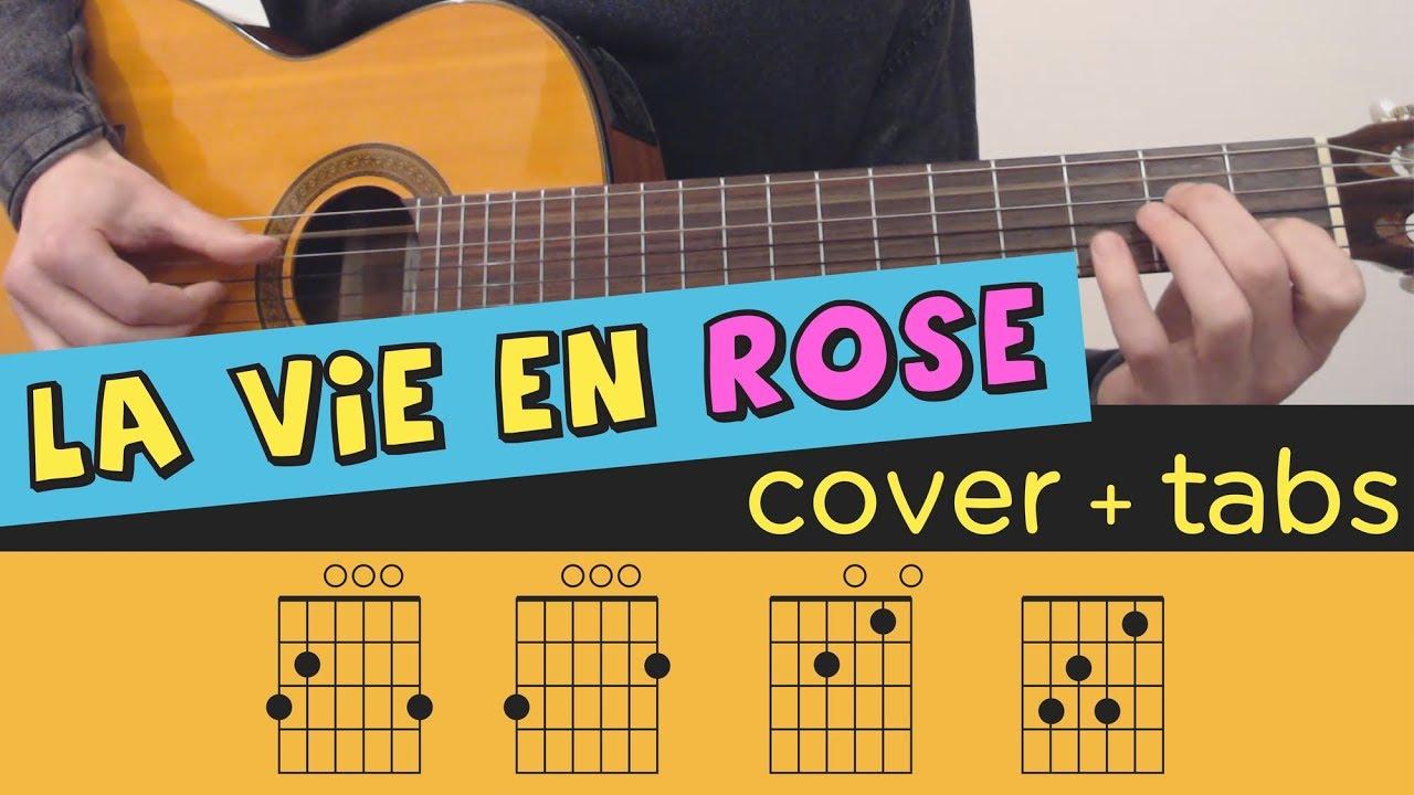 La Vie En Rose Chords La Vie En Rose Guitar Cover Lesson Fingerstyle Tutorial Tab