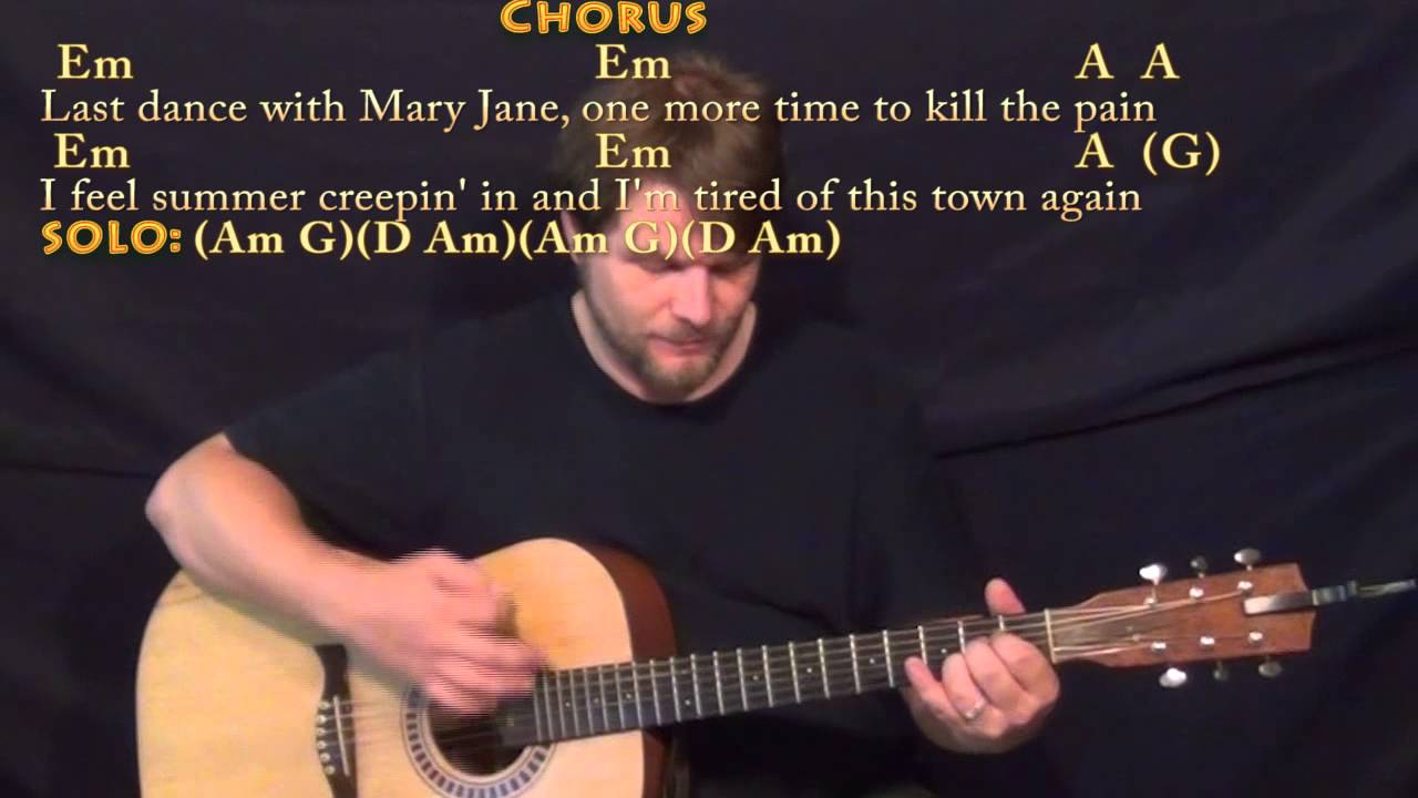 Last Dance With Mary Jane Chords Mary Janes Last Dance Tom Petty Strum Guitar Cover Lesson With Chordslyrics