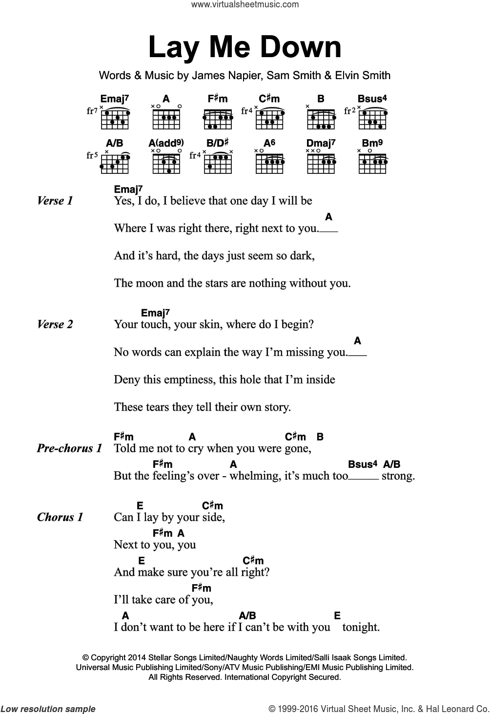 Lay Me Down Chords Smith Lay Me Down Sheet Music For Guitar Chords Pdf