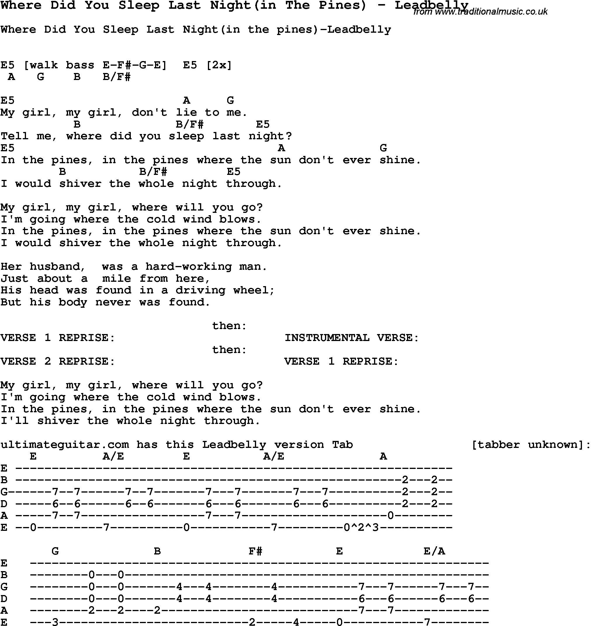 My Girl Chords Nirvana Guitar Chords Where Did You Sleep