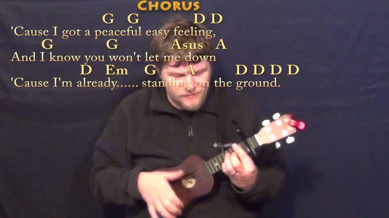 Peaceful Easy Feeling Chords Peaceful Easy Feeling Eagles Ukulele Cover Lesson With Chordslyrics Capo 2nd