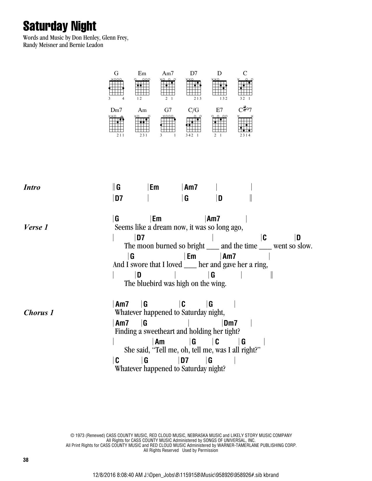 Peaceful Easy Feeling Chords Sheet Music Digital Files To Print Licensed Eagles Digital Sheet Music