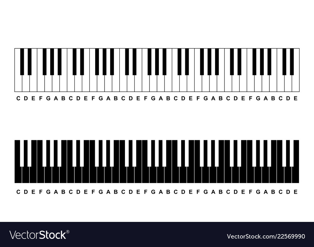 Piano Chords Chart Piano Chords Or Piano Key Notes Chart On White Vector Image