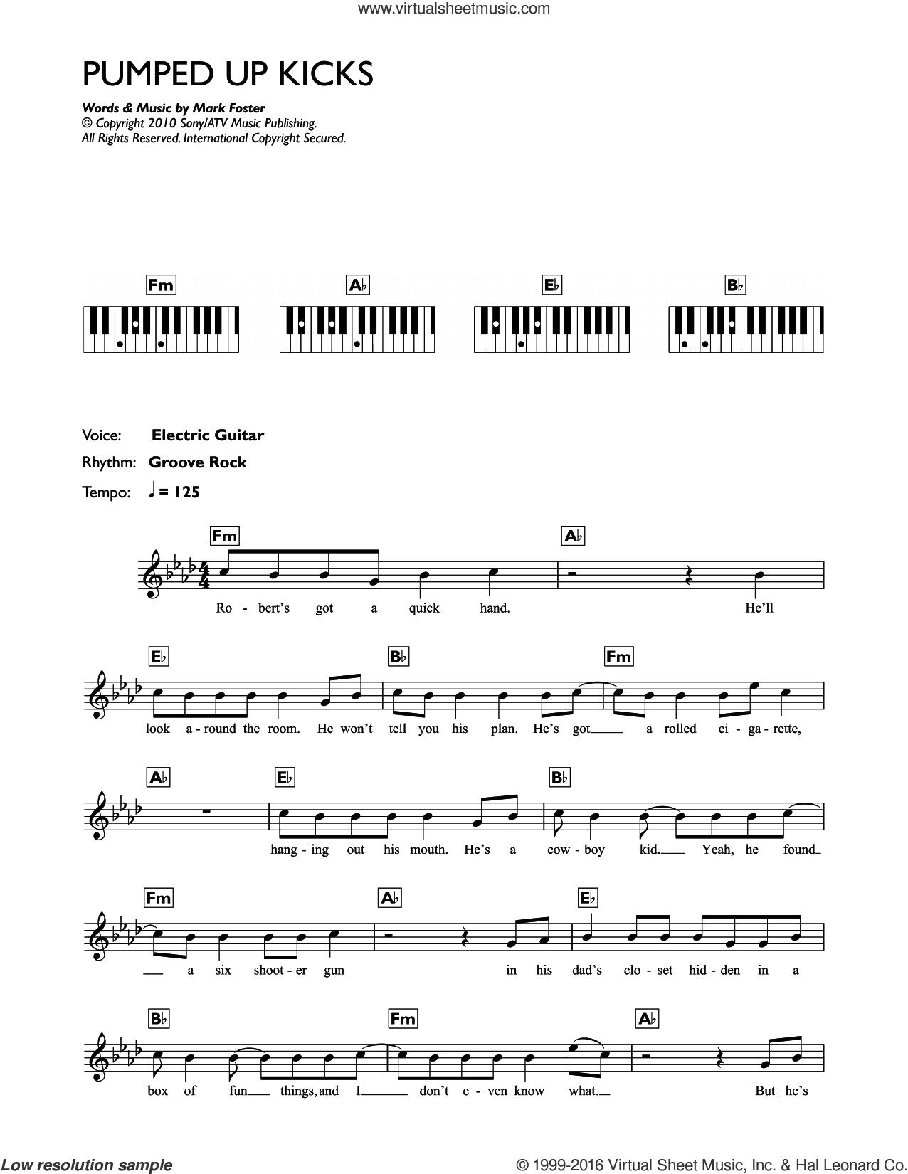 Pumped Up Kicks Chords People Pumped Up Kicks Sheet Music For Piano Solo Chords Lyrics Melody
