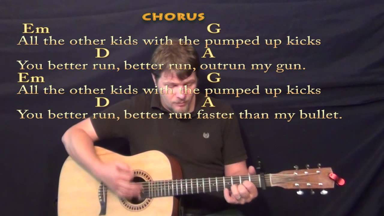 Pumped Up Kicks Chords Pumped Up Kicks Foster The People Strum Guitar Cover Lesson With Chordslyrics