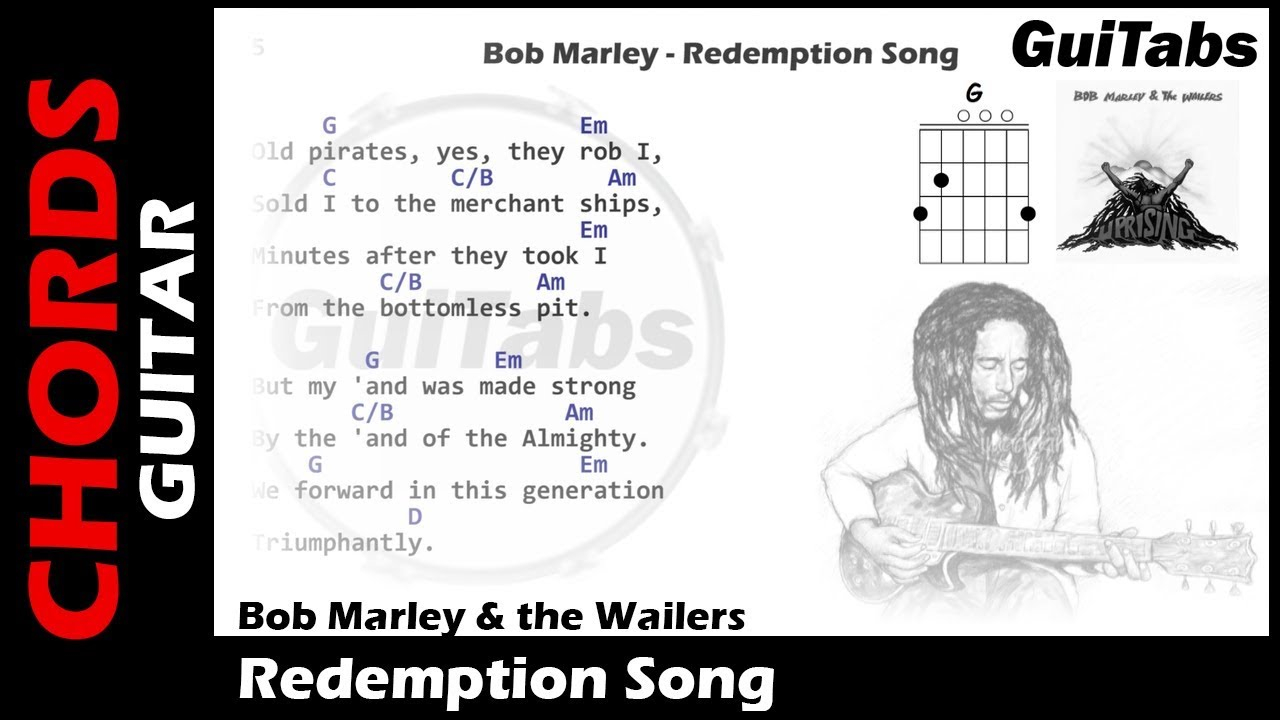 Redemption Song Chords Bob Marley Redemption Song Lyrics And Guitar Chords