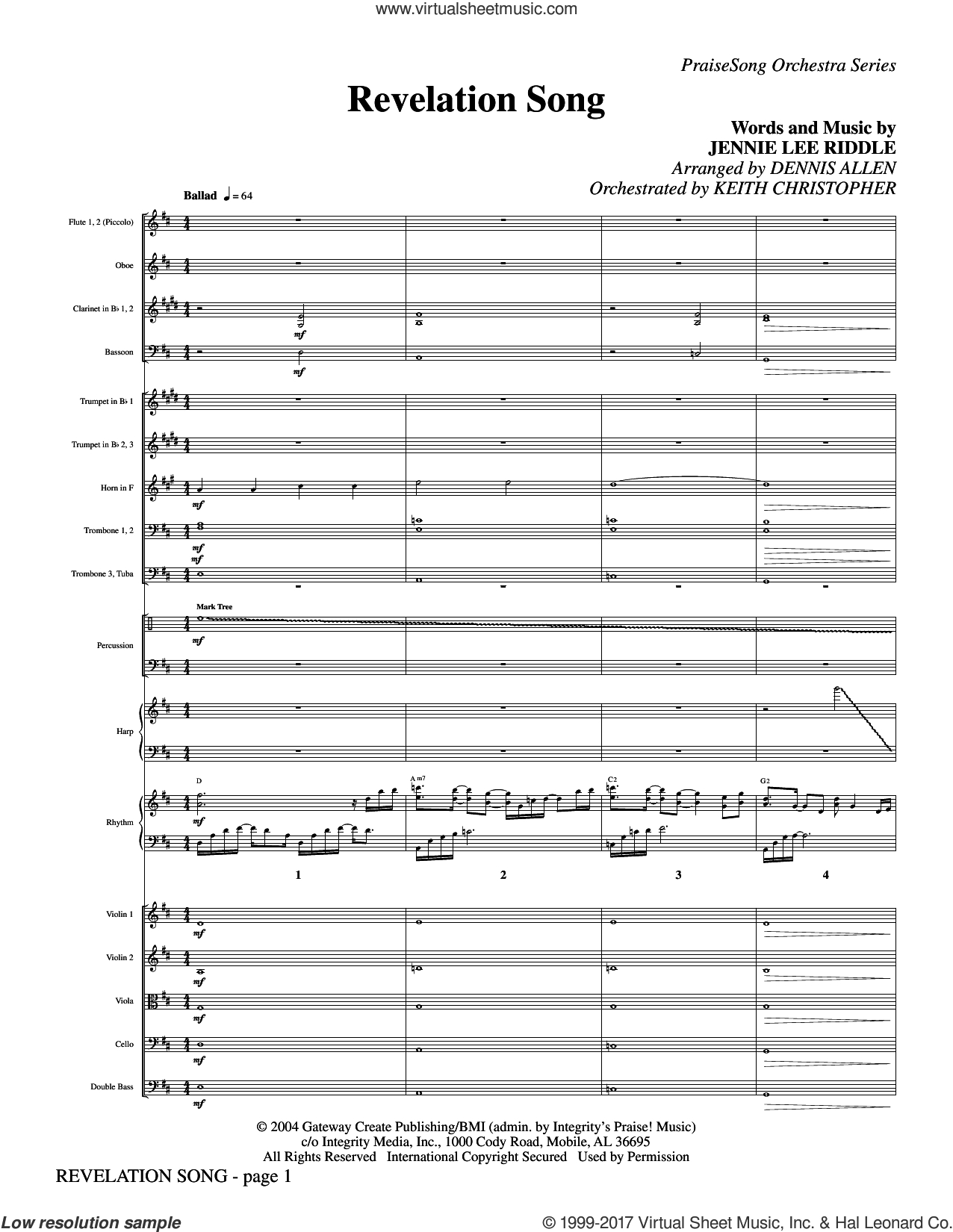Revelation Song Chords Riddle Revelation Song Complete Set Of Parts Sheet Music For Orchestraband Orchestra