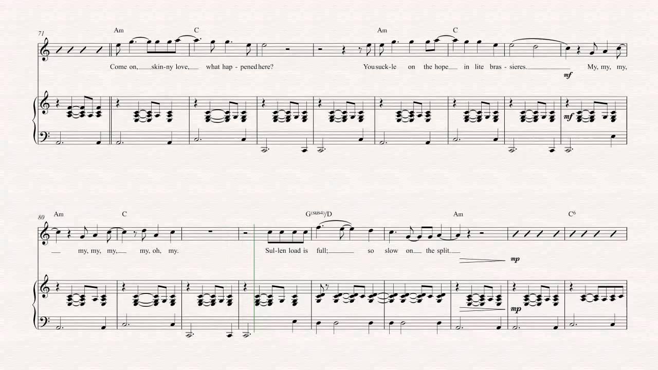 Skinny Love Chords Violin Skinny Love Bon Iver Sheet Music Chords Vocals