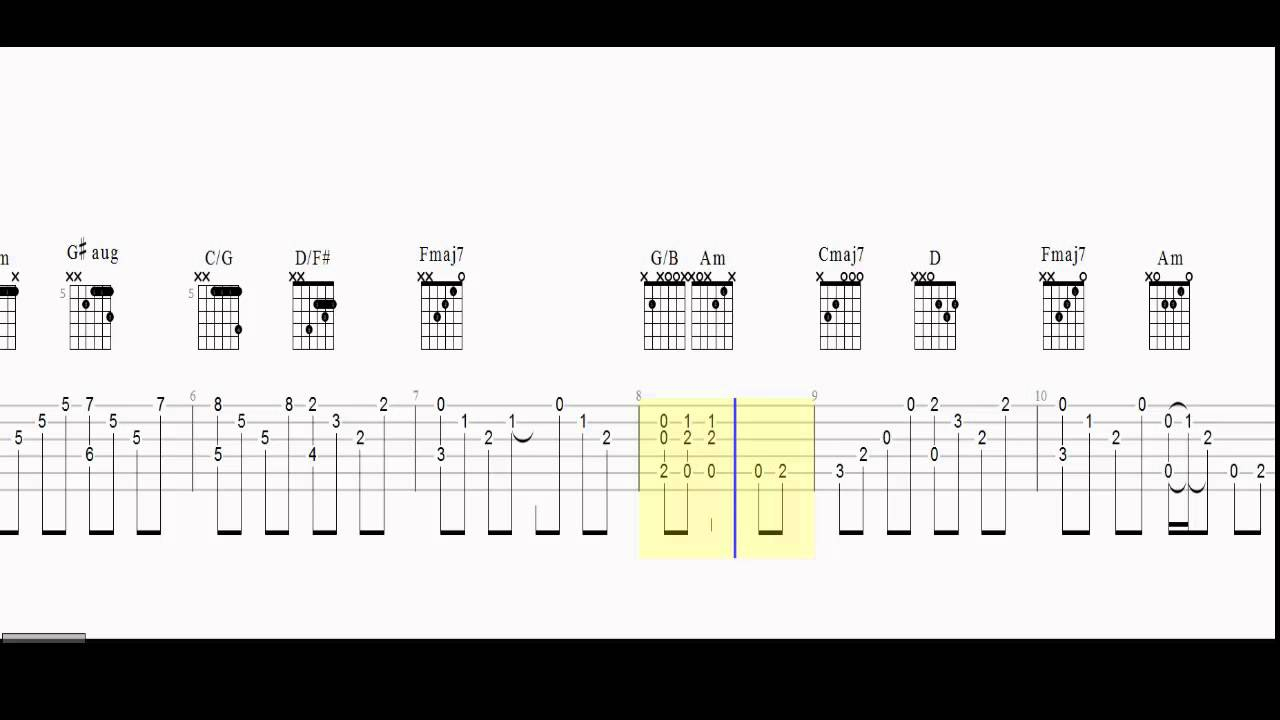 Stairway To Heaven Chords Guitar Tab Intro Stairway To Heaven Chords And Tab Play Along