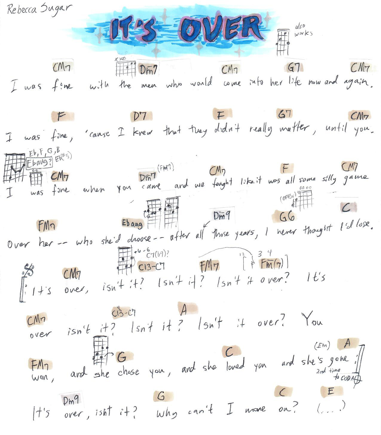 Steven Universe Ukulele Chords Steven Universe Ukulele Chords Tumblr