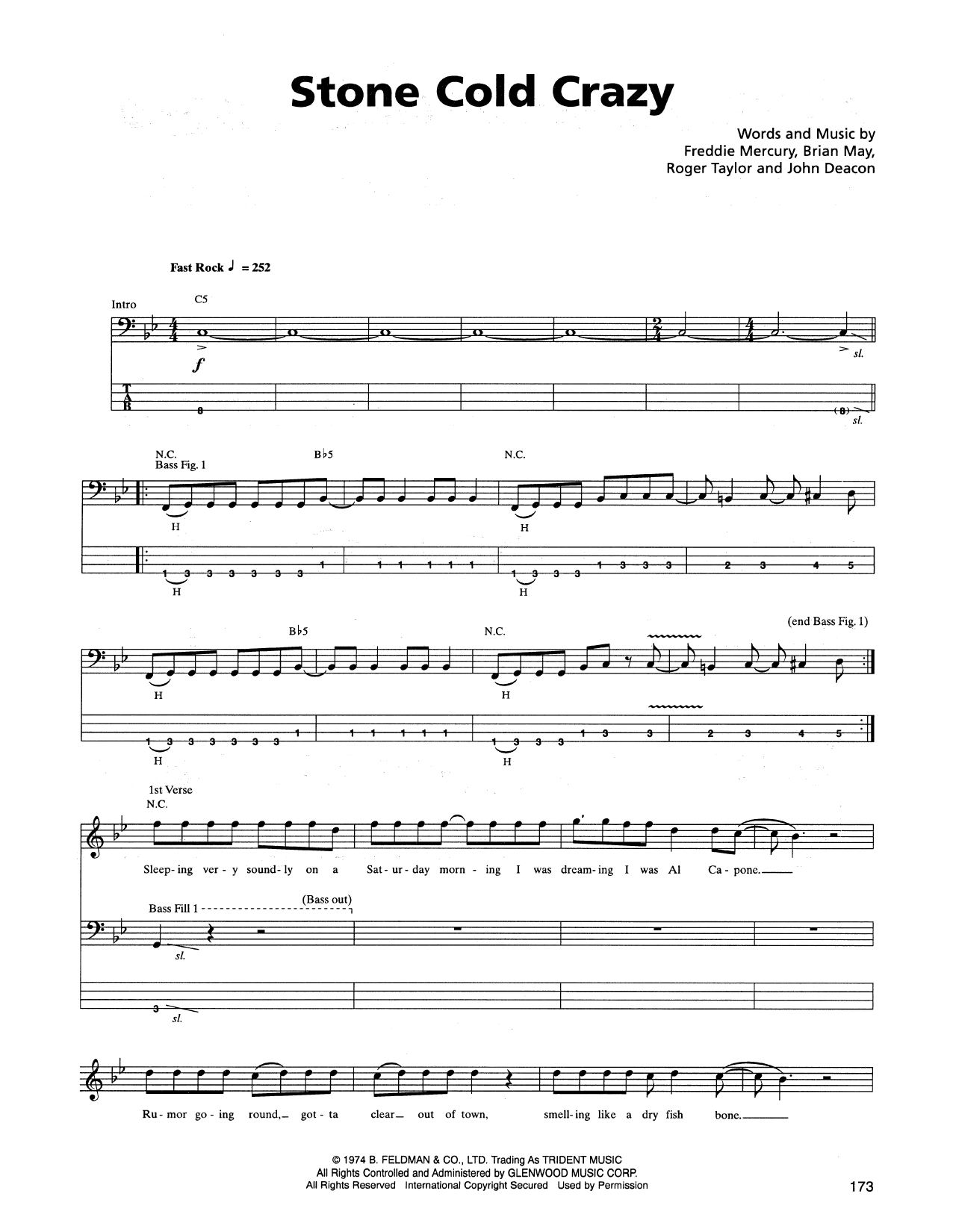 Stone Cold Chords Stone Cold Crazy Metallica Bass Tab Guitar Instructor