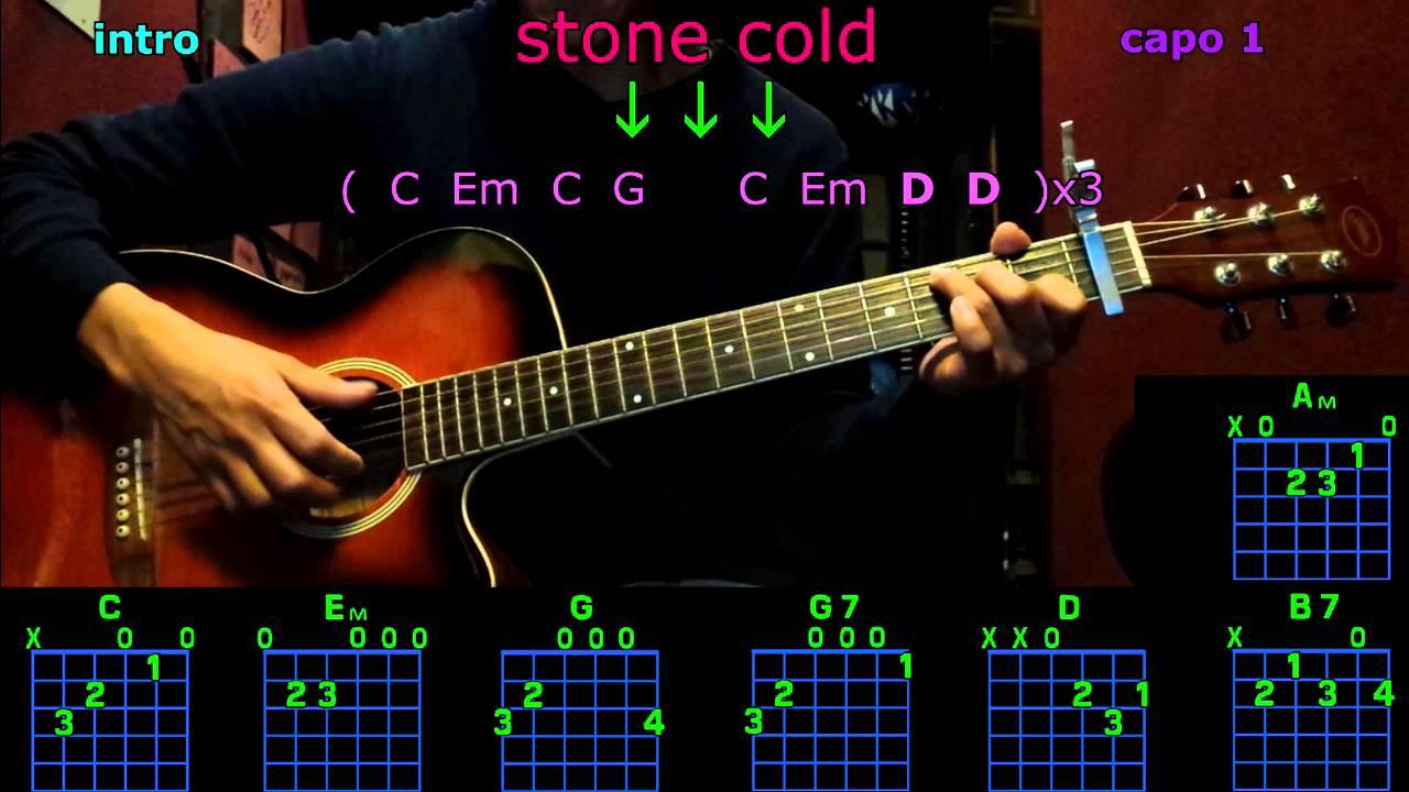 Stone Cold Chords Stone Cold Demi Lovato Guitar Chords