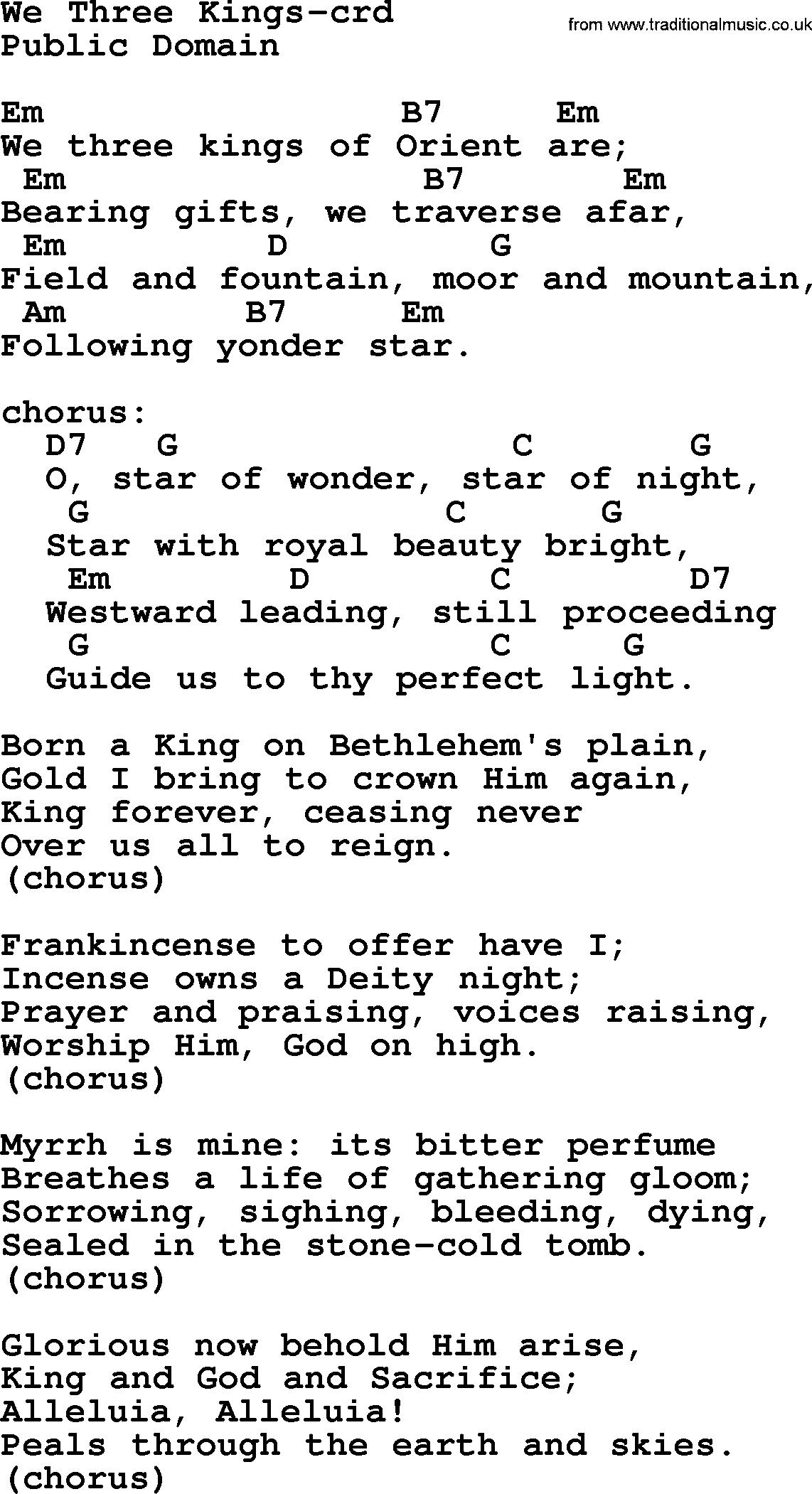 Stone Cold Chords Top 500 Hymn We Three Kings Lyrics Chords And Pdf