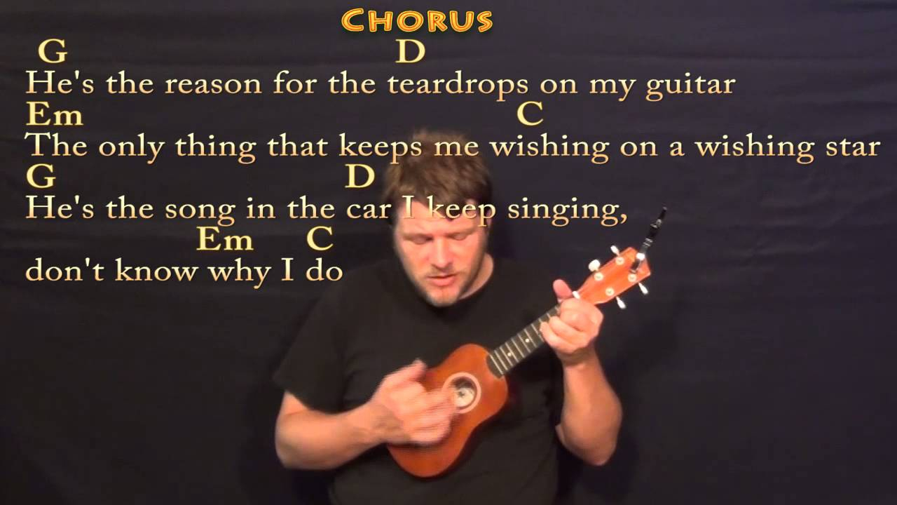 Teardrops On My Guitar Chords Teardrops On My Guitar Soprano Ukulele Cover Lesson With Lyrics Chords