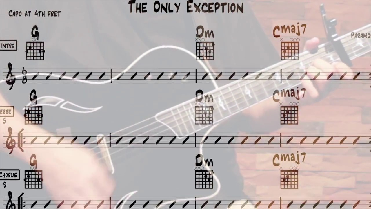 The Only Exception Chords The Only Exception Chords For Beginner Guitar Paramore