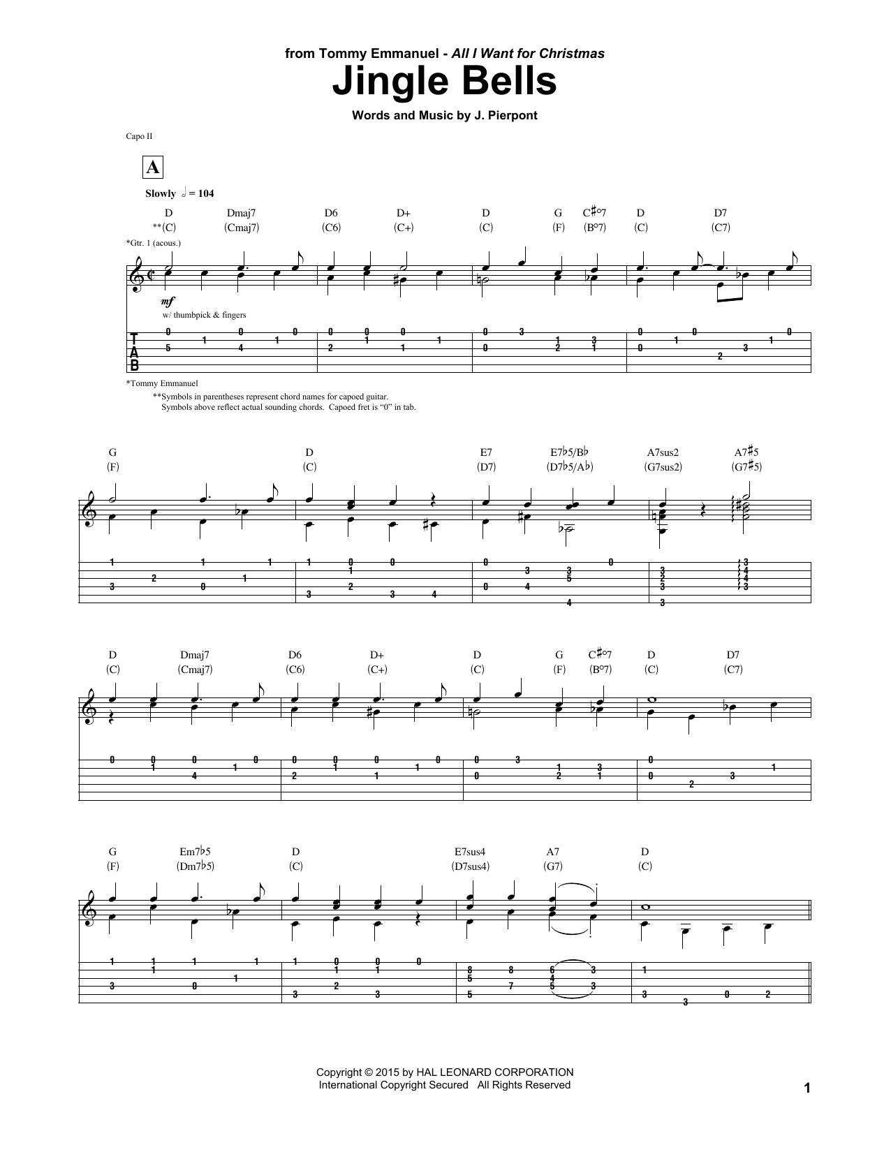 Tiny Dancer Chords Jingle Bells Tommy Emmanuel Guitar Tab Guitar Instructor