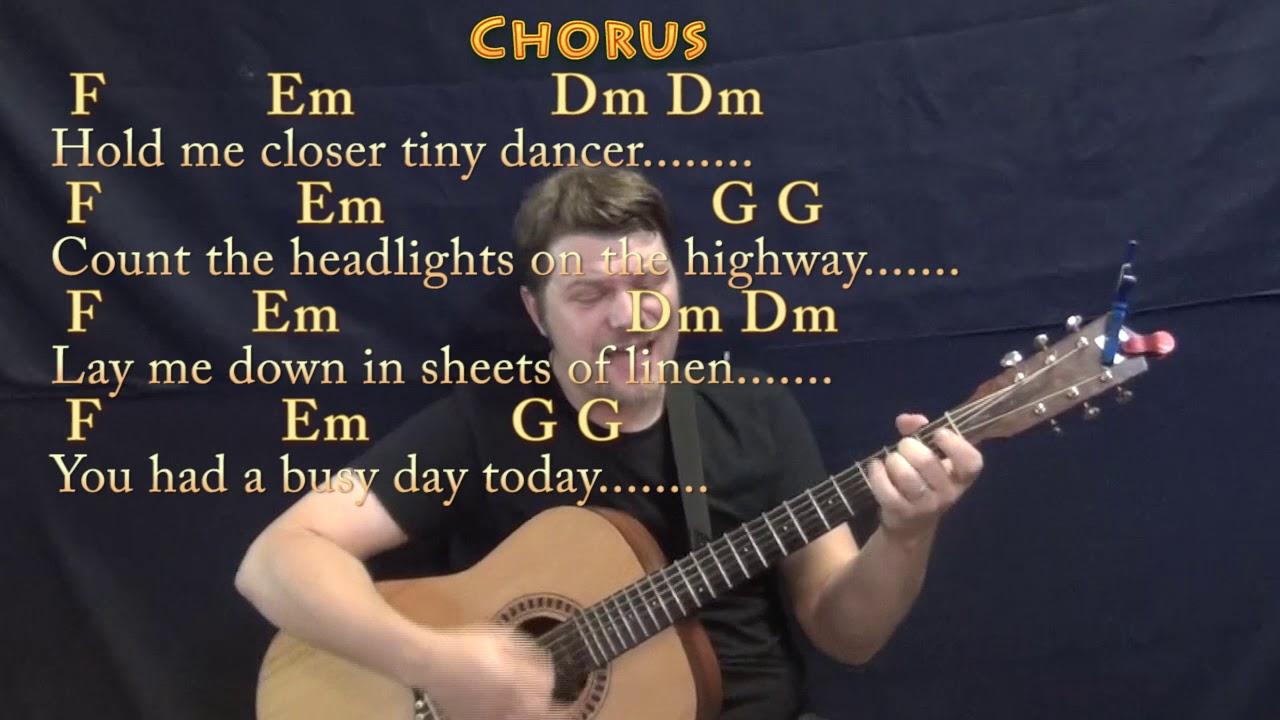 Tiny Dancer Chords Tiny Dancer Elton John Guitar Cover Lesson With Chordslyrics Munson