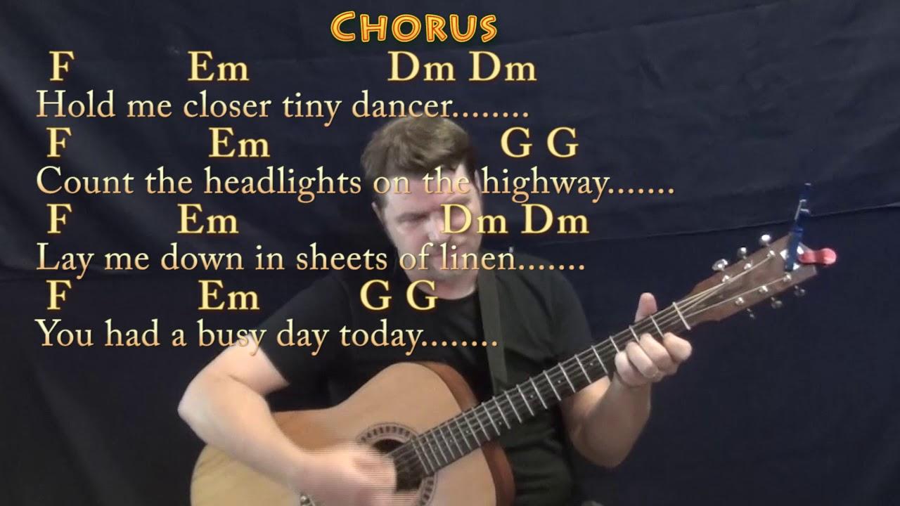 Tiny Dancer Chords Tiny Dancer Elton John Strum Guitar Cover Lesson With Chordslyrics