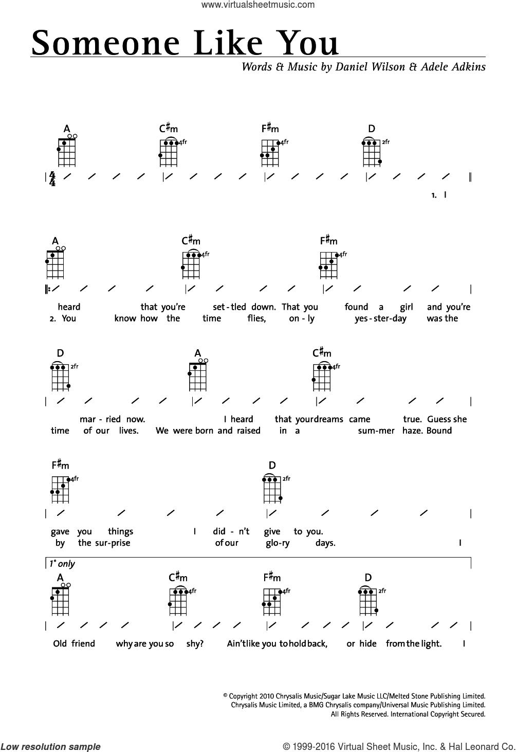 Viva La Vida Chords Adele Someone Like You Sheet Music For Ukulele Chords Pdf