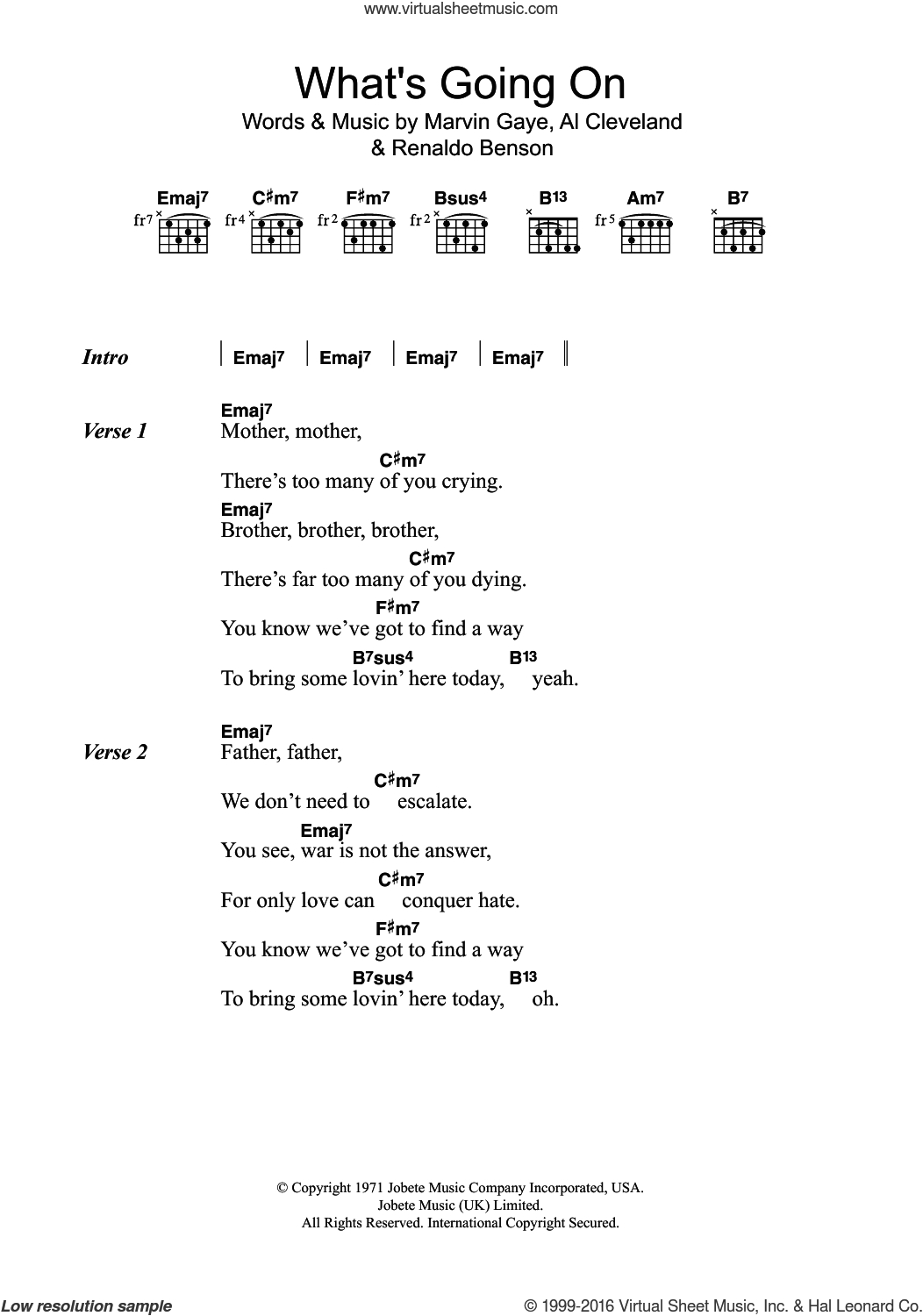 What's Going On Chords Gaye Whats Going On Sheet Music For Guitar Chords Pdf