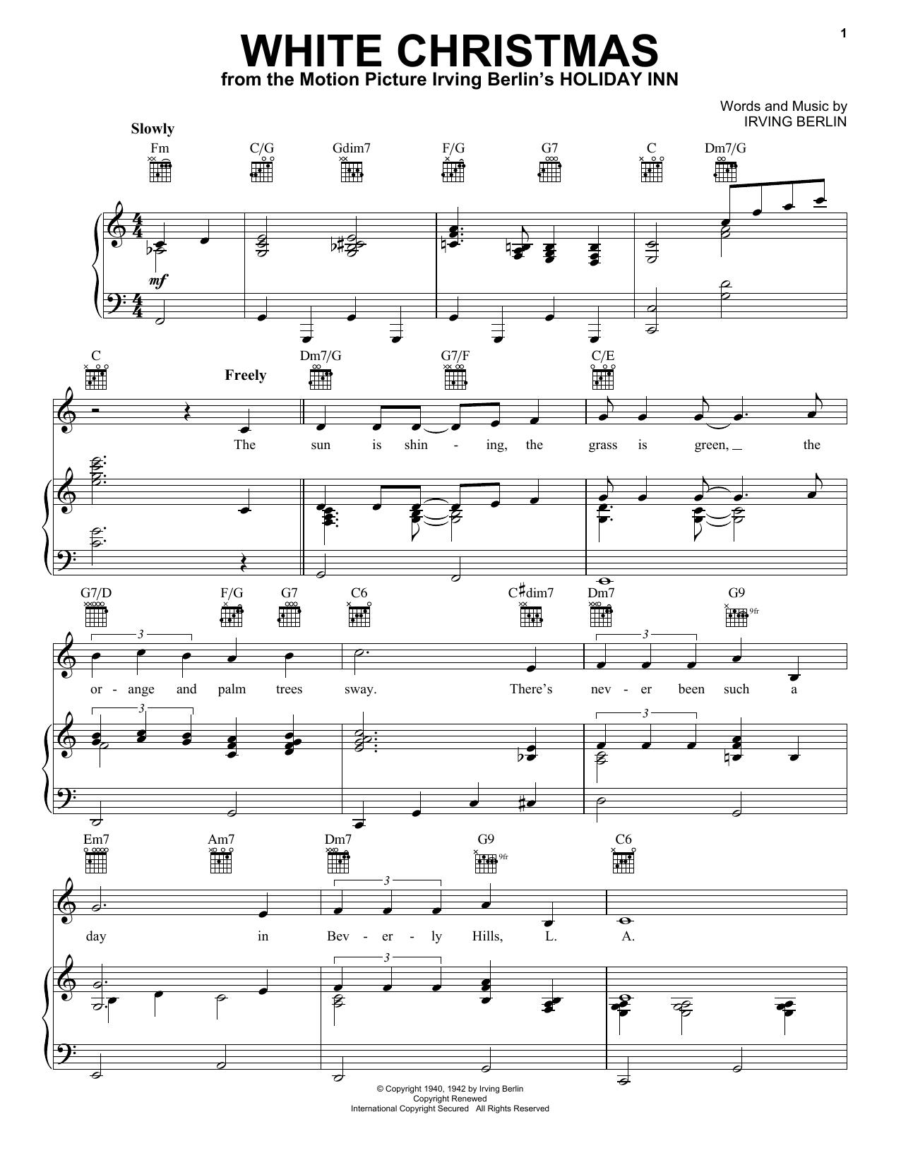 White Christmas Chords Irving Berlin White Christmas Sheet Music Notes Chords Download Printable Guitar Chordslyrics Sku 99934