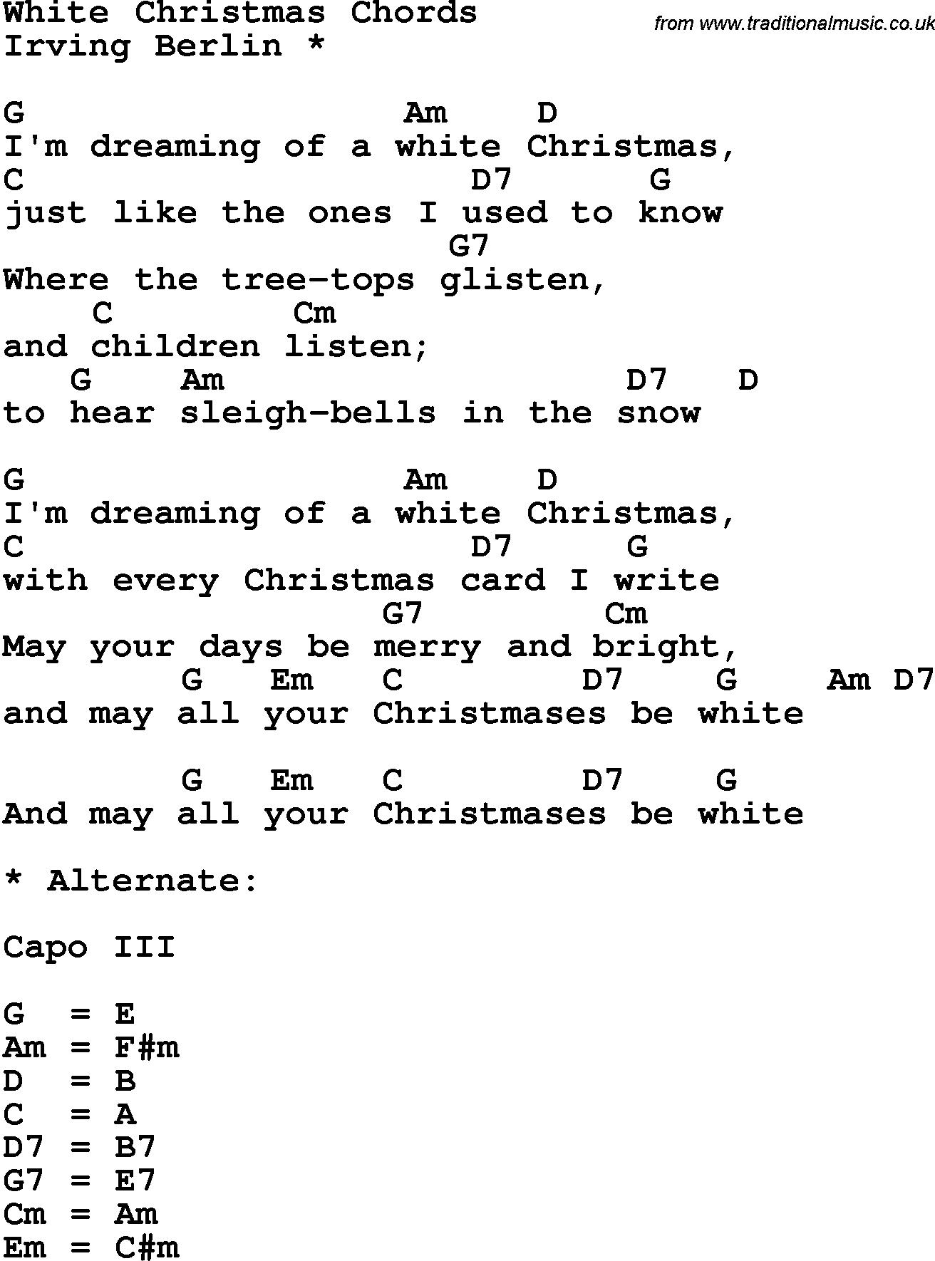 White Christmas Chords White Christmas Chords 2015confession