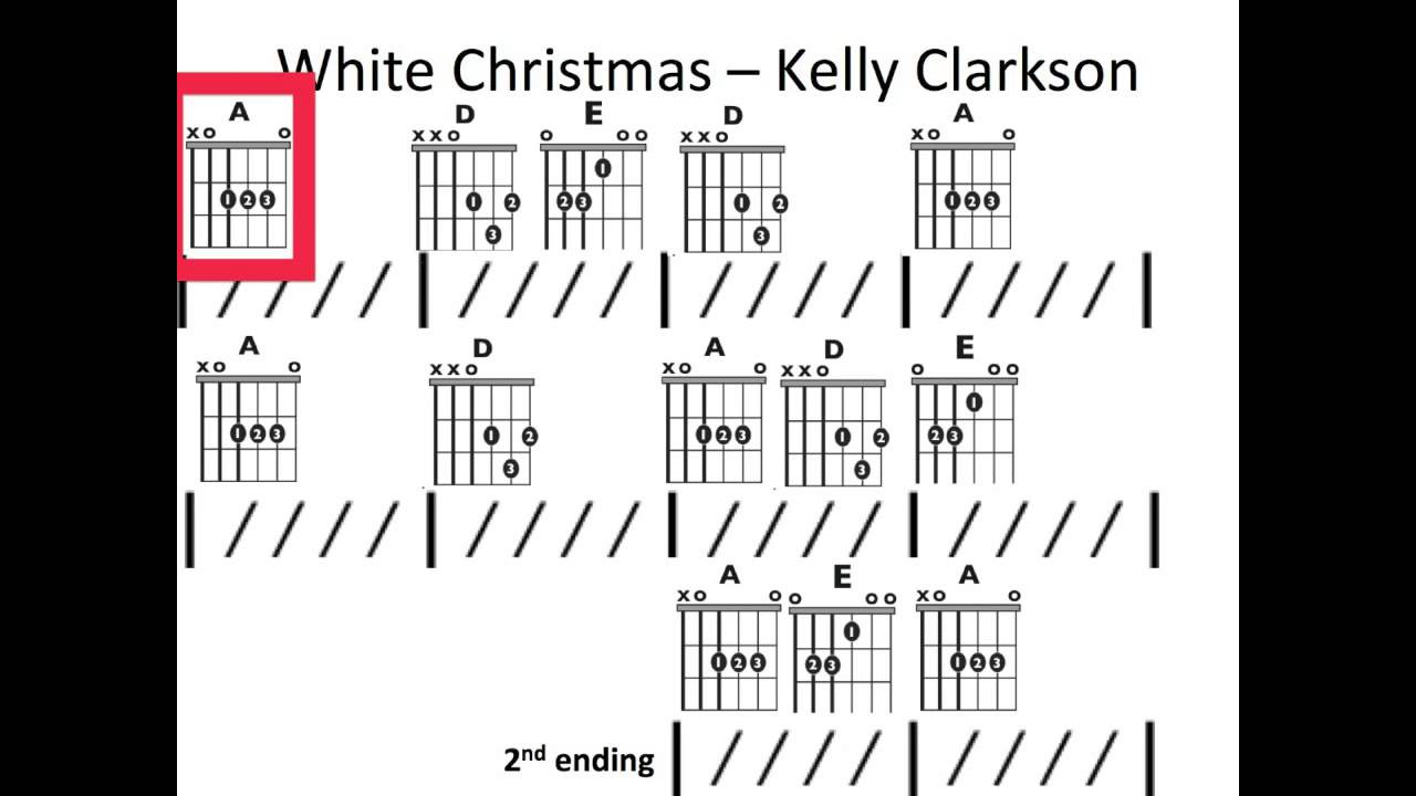 White Christmas Chords White Christmas Kelly Clarkson Moving Chord Chart