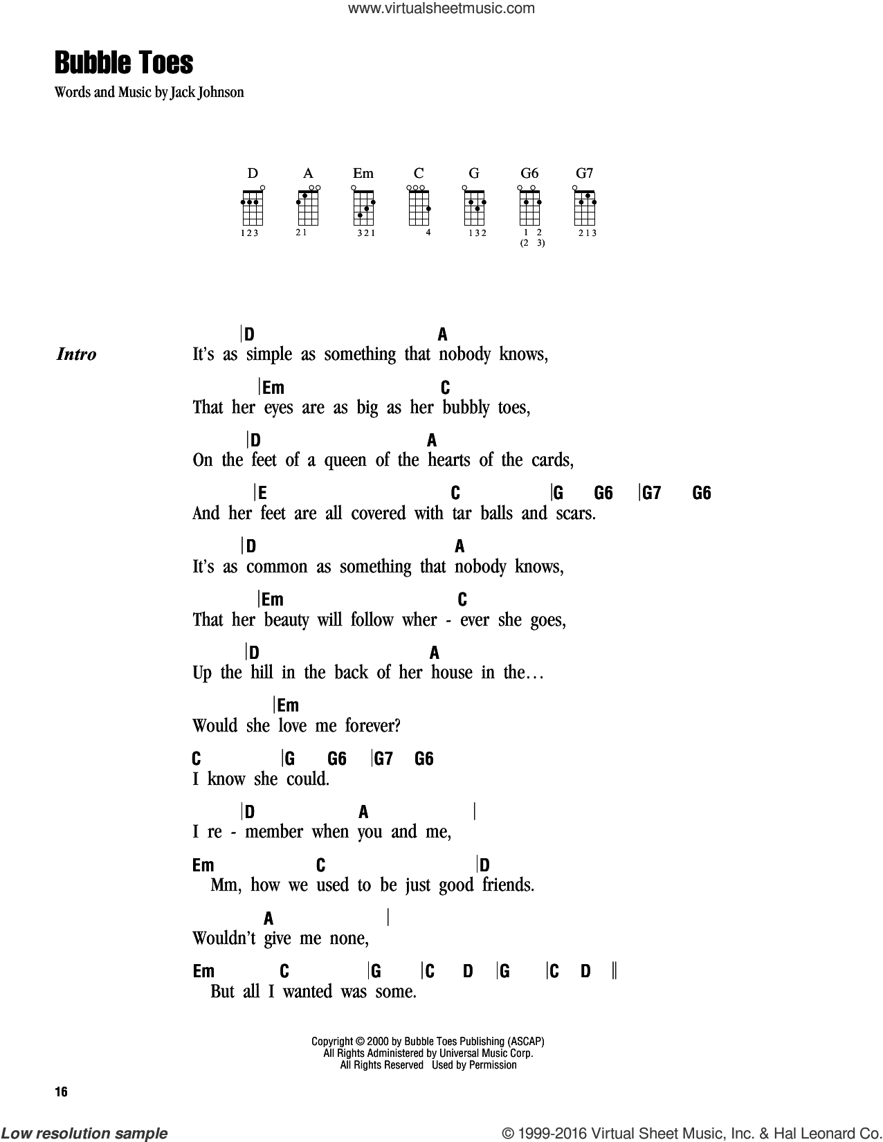 You And I Ukulele Chords Johnson Bubble Toes Sheet Music For Ukulele Chords Pdf
